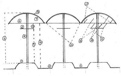 钢管葡萄长廊设计图